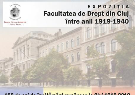 Afis expozitie Facultatea de Drept